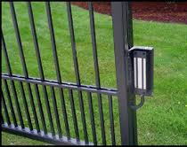 Electric gate maglock