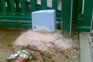 sliding gate motor installation