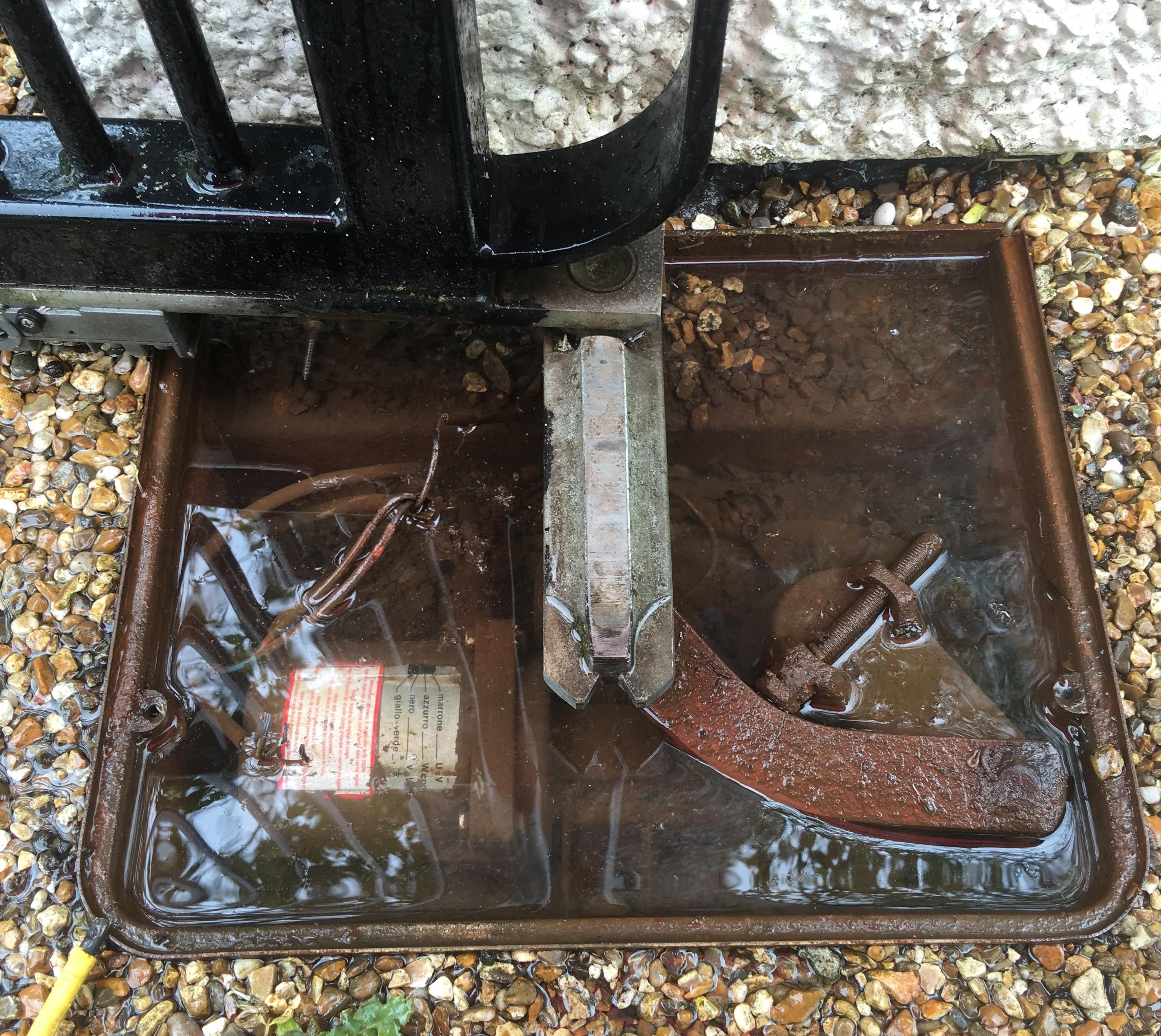 Underground gate motor under water