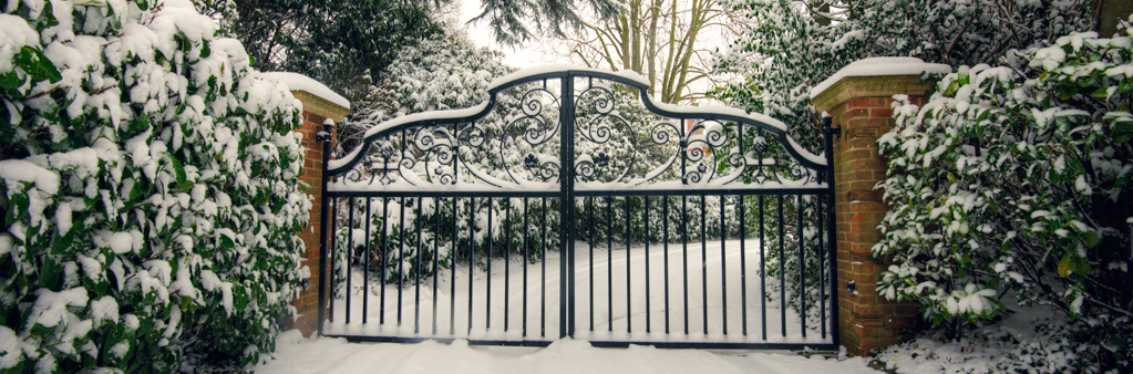 Protecting electric gates from the elements