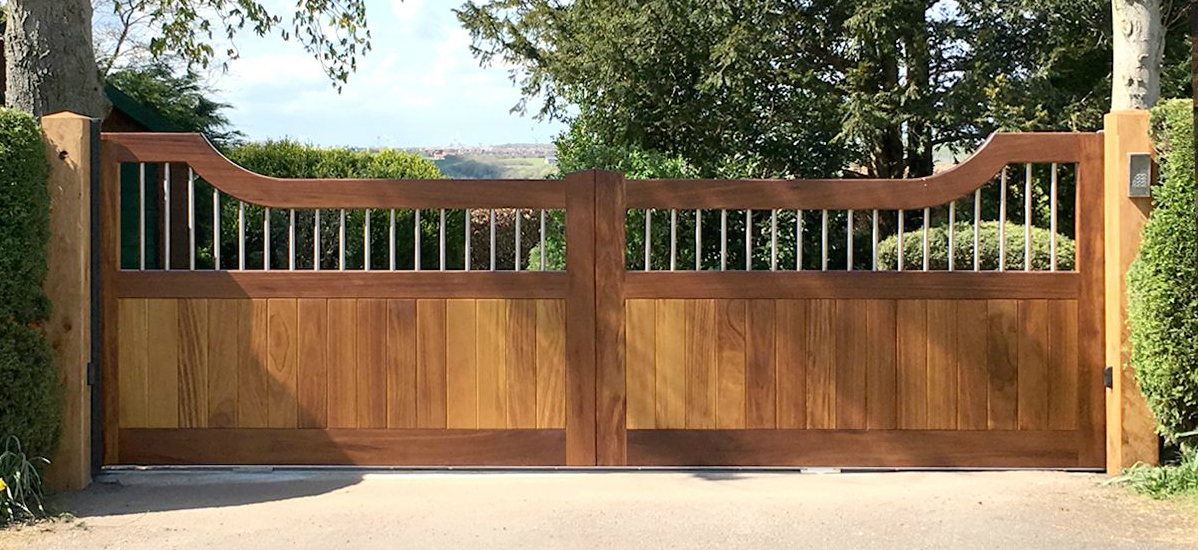 Beautiful wooden swing gates