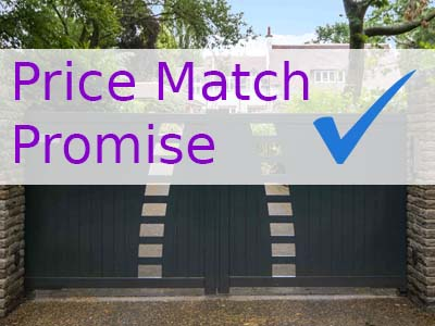 gate automation supplies price match
