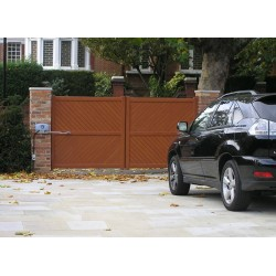 What are the optimum service periods for automatic gates?