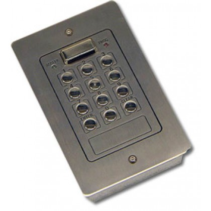 Videx 800NF flush 2 code 2 relay stainless steel code lock keypad