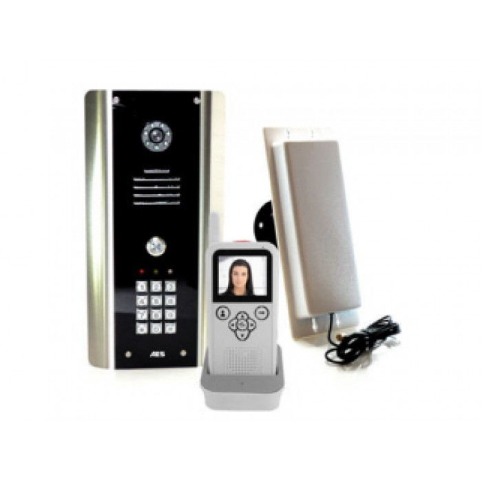 SPECIAL OFFER - AES 705-ABK digital wireless video intercom system with keypad & portable video handset