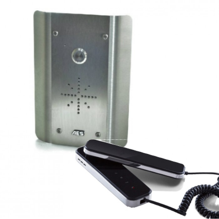 AES Slim CL-AS wired stainless steel audio intercom kit