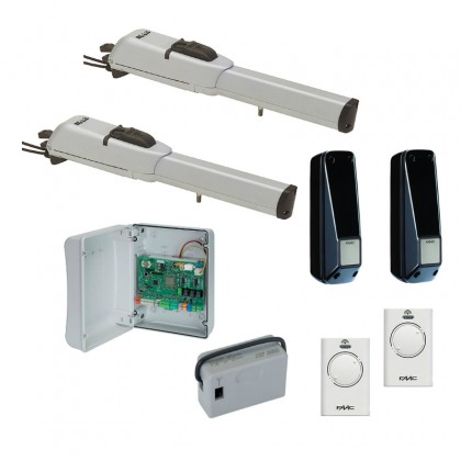 Faac 413 LS 24Vdc linear screw kit with limit switches for swing gates up to 1.8m