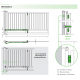 Trackless Bifold Gate Kit For A Folding Gate Up To A Total Width Of 5m