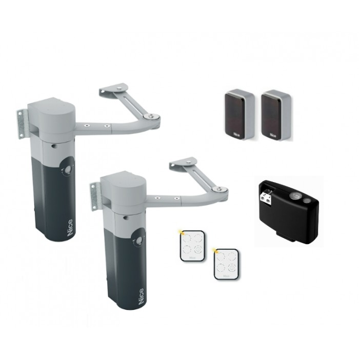 Nice WalkyKit 2024 24Vdc articulated arm bi-directional kit for swing gates up to 1.8m