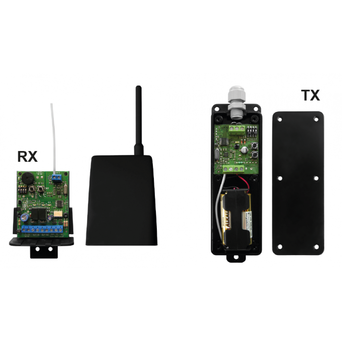 Nologo TRANCEIVER 868Mhz wireless transmitter and receiver kit for safety edges