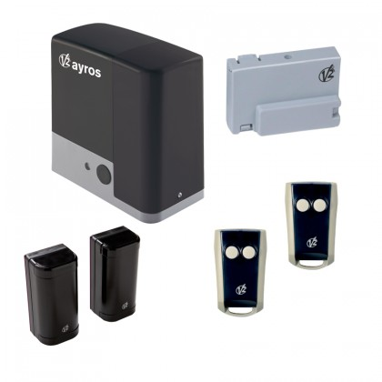 V2 AYROS800 230Vac kit for automating a sliding gate up to 800kg