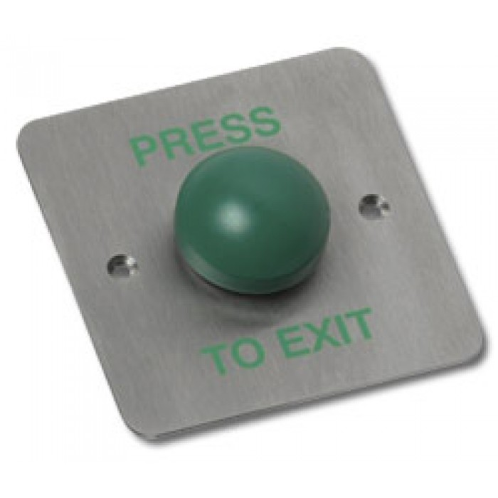 Videx SPB004F - Flush stainless steel push to exit with dome button