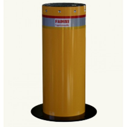 Fadini STRABUC 918 Electro-hydraulic rising bollard with yellow sleeve