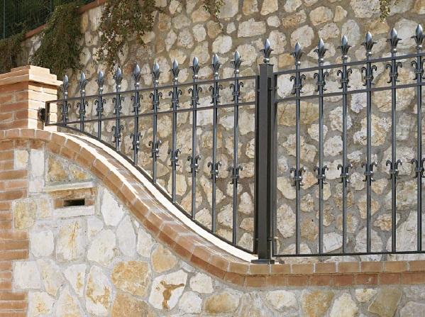 Ornate iron railings