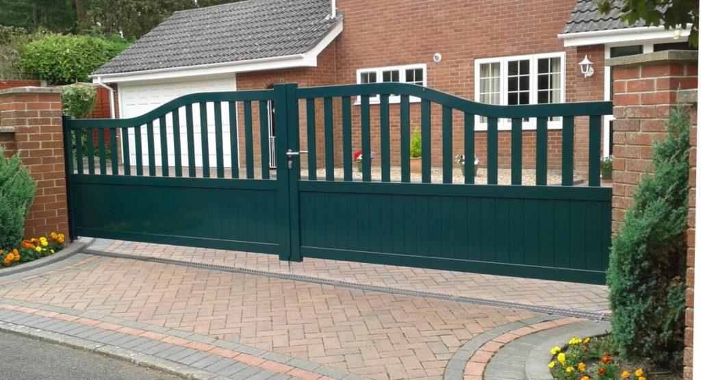 Green aluminium gates