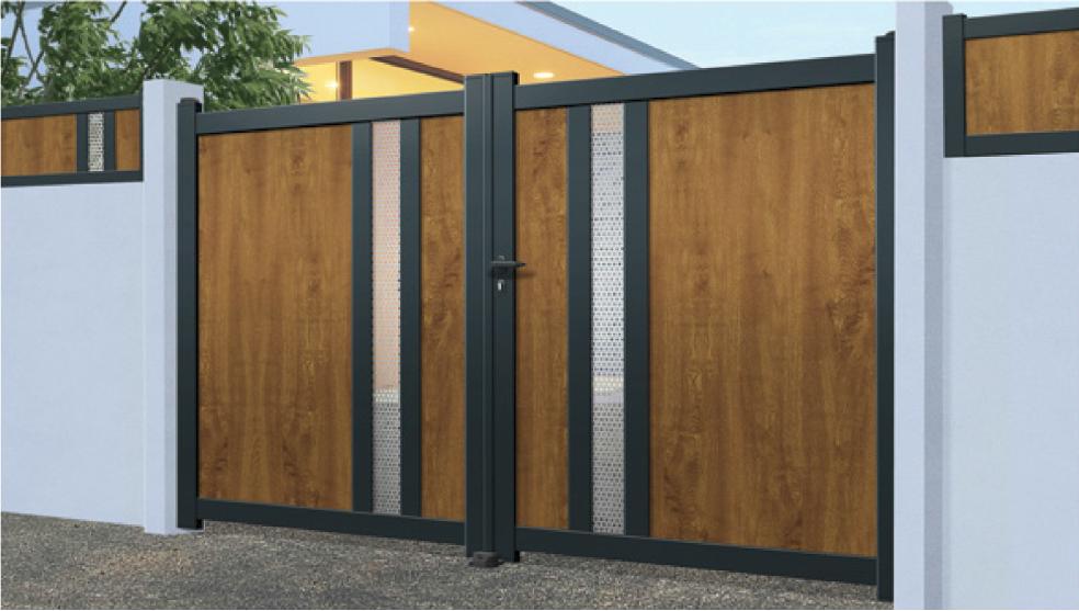 Home Design Gate Ideas: Modern Aluminium Gates