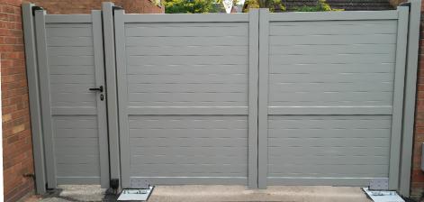 non-standard grey aluminium gate colour