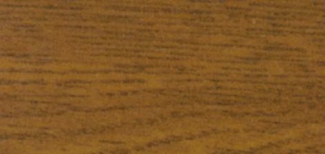 Golden oak finish for aluminium gates
